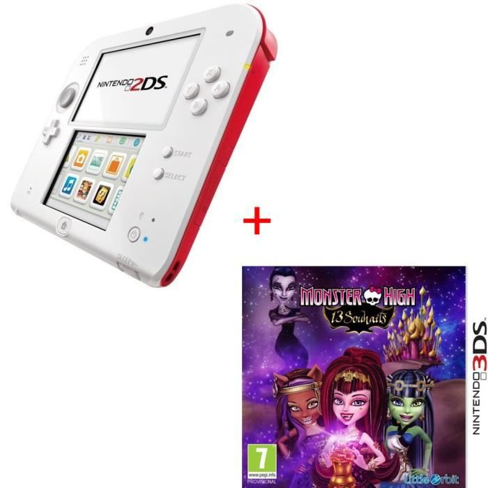 CONSOLE 2DS Pack 2DS + Monster High : 13 Souhaits