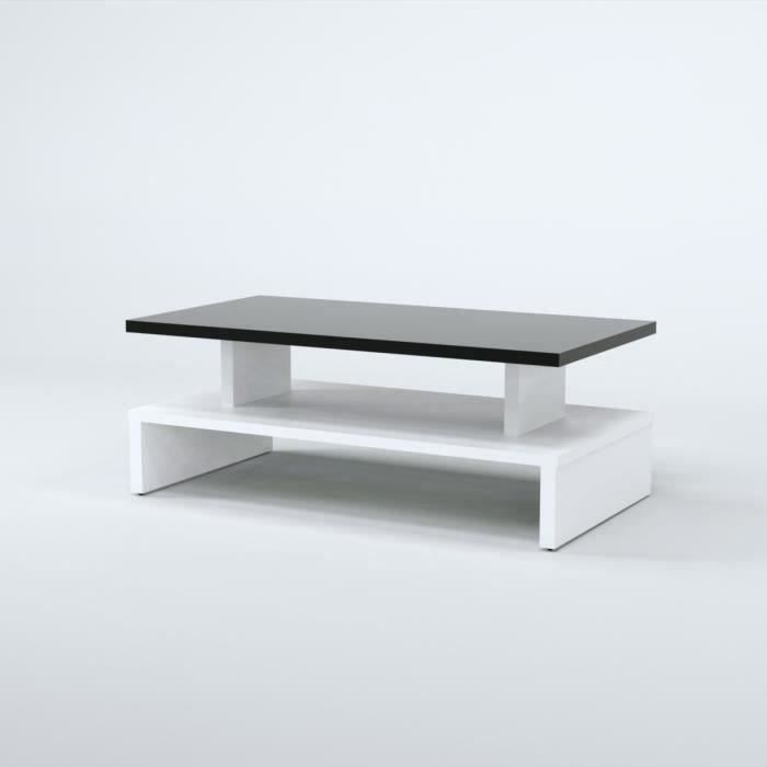 After table basse 97cm d cor noir et blanc achat vente table basse afte - Table salon cdiscount ...