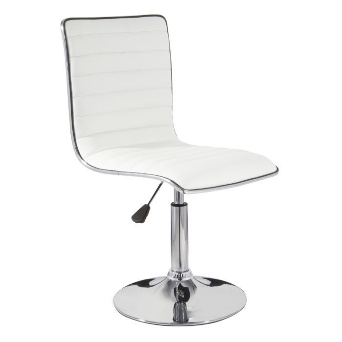 Lot de 2 chaises de bar turn blanc achat vente chaise for Achat chaise de bar