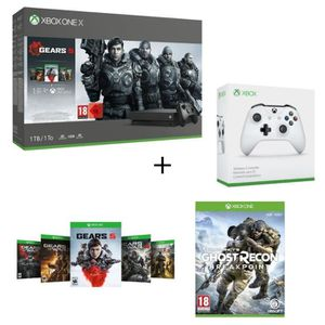 CONSOLE XBOX ONE Xbox One X 1 To + 5 Jeux Gears of War+1 mois d'ess