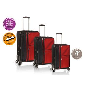 SET DE VALISES HORIZON Set de 3 Valises Souple 4 Roues 51-61-71 c