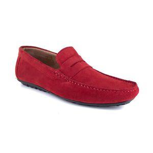 MOCASSIN J.BRADFORD JB-LOWELL Rouge Chaussure Homme