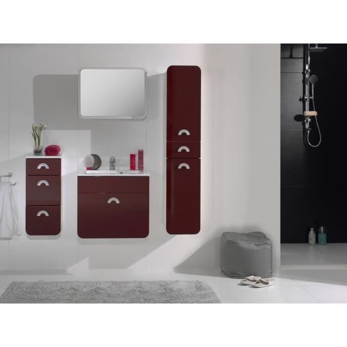 takaroa salle de bain compl te bordeaux achat vente ensemble meuble sdb salle de bain. Black Bedroom Furniture Sets. Home Design Ideas