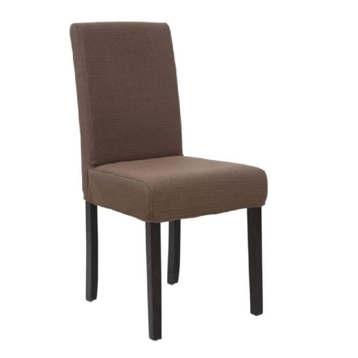 Strip lot de 2 chaises de salle manger marron achat for Lot de chaise salle a manger