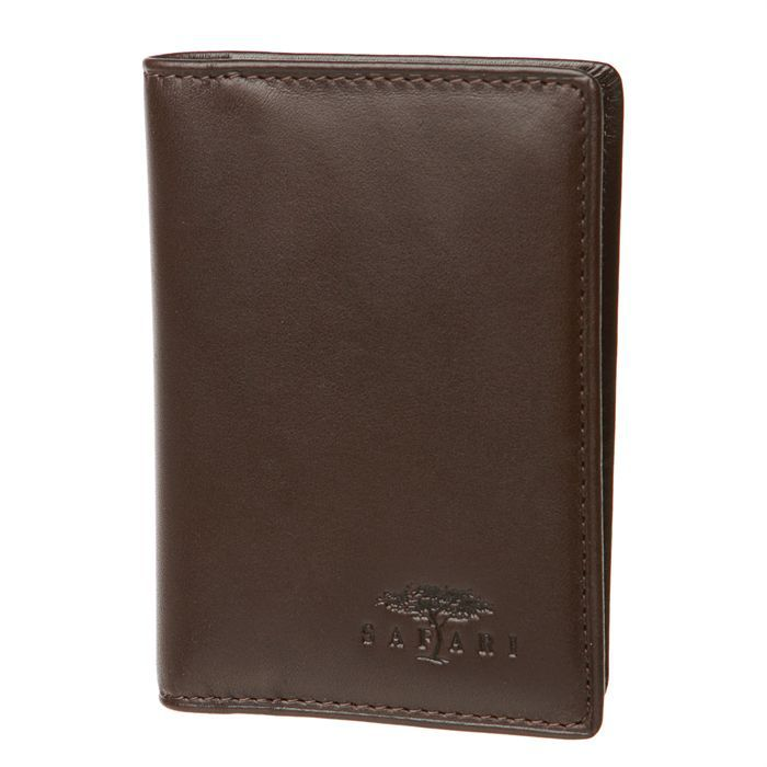 Safari porte carte homme marron achat vente porte for Porte carte homme