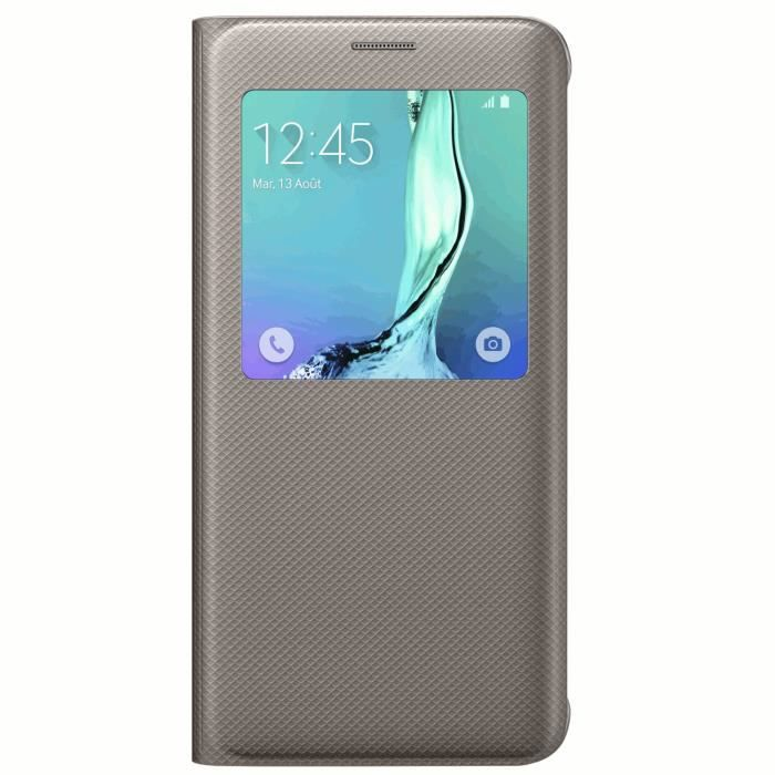 Samsung S View Cover Galaxy S6 edge Or coque