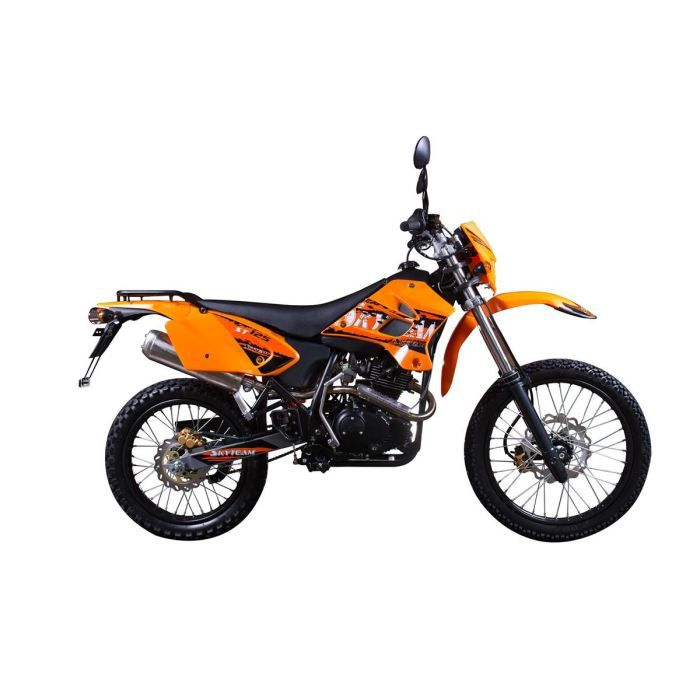 skyteam moto 125cc trail orange achat vente moto moto. Black Bedroom Furniture Sets. Home Design Ideas