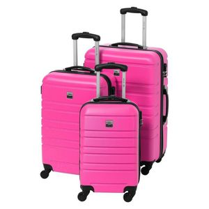 SET DE VALISES FRANCE BAG Set 3 Valises Rigide ABS 4R 55-65-70cm