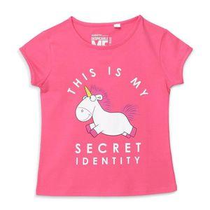 T-SHIRT LES MINIONS T-shirt Licorne Rose et Blanc Enfant F