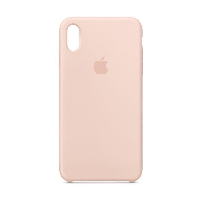 coque en silicone pour iphone xs max rose des sa