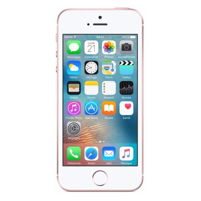 apple iphone se 16 go rose or achat smartphone pas cher. Black Bedroom Furniture Sets. Home Design Ideas