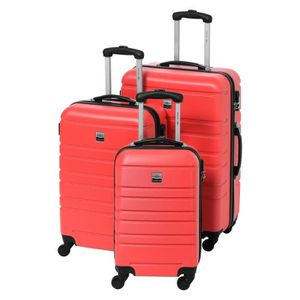 SET DE VALISES FRANCE BAG Set de 3 Valises Rigide ABS 4 Roues 55-