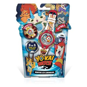 PIÈCE MULTIMEDIA YOKAI WATCH - Montre LCD Lumineuse Rouge
