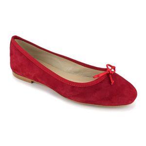 BALLERINE PIERRE CARDIN Ballerines en cuir - Femme - Rouge