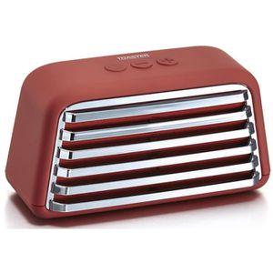 ENCEINTE NOMADE TREELAB TOASTER Enceinte Bluetooth rétro - Rouge