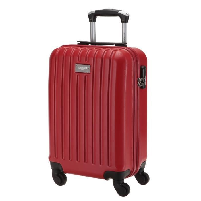 torrente valise cabine low cost rigide abs 4 roues 45 cm hebe rouge rouge achat vente valise. Black Bedroom Furniture Sets. Home Design Ideas