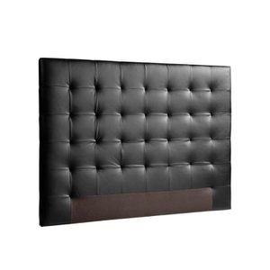 TÊTE DE LIT SOGNO Tête de lit capitonnée - Simili noir - L 160