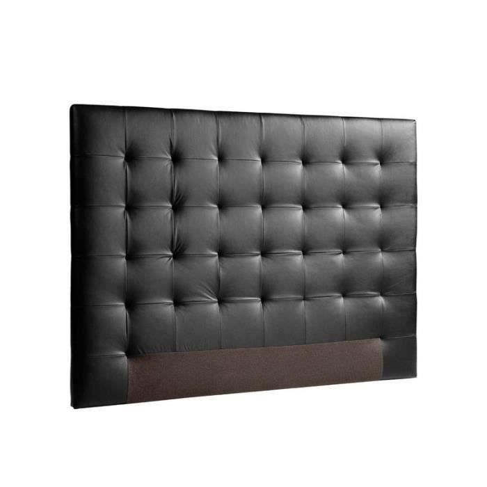 sogno t te de lit capitonn e simili noir l 160 cm. Black Bedroom Furniture Sets. Home Design Ideas