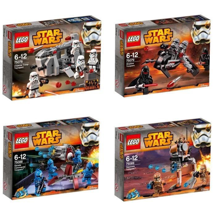 lego star wars pack new troopers achat vente assemblage construction cdiscount. Black Bedroom Furniture Sets. Home Design Ideas