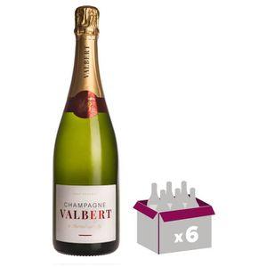 CHAMPAGNE Champagne Valbert Brut - Brut Réserve x6