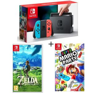 CONSOLE NINTENDO SWITCH Console Nintendo Switch Néon + Super Mario Party +