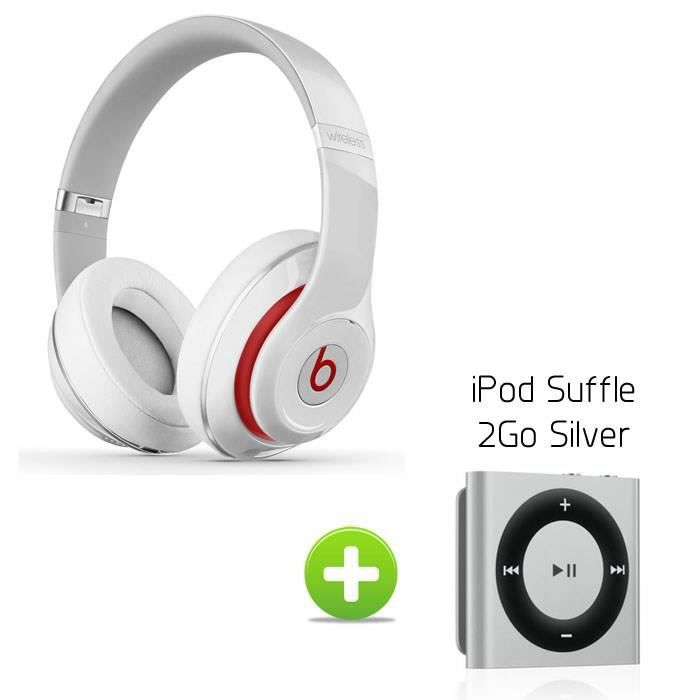beats studio wireless blanc ipod shuffle 2go silver. Black Bedroom Furniture Sets. Home Design Ideas