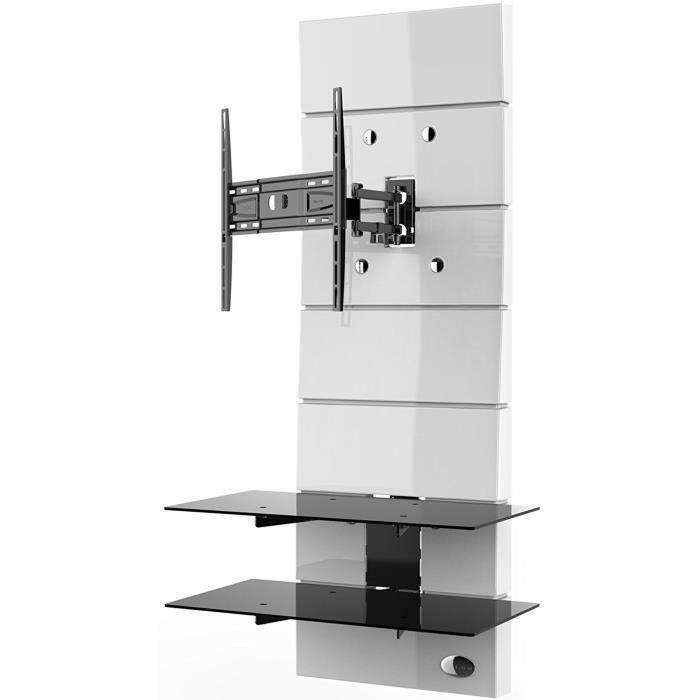 Meliconi Meuble Tv Support Orientable 32 A 63 81 160 Cm Jusqu A 30 Kg Blanc Meuble Hifi Integree Avis Et Prix Pas Cher Cdiscount