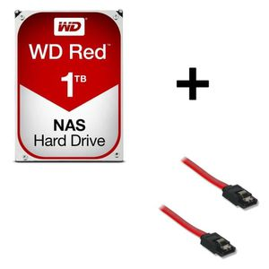 "DISQUE DUR INTERNE WD Red 1To 64Mo 3.5"" WD10EFRX + Câble Serial ATA m"