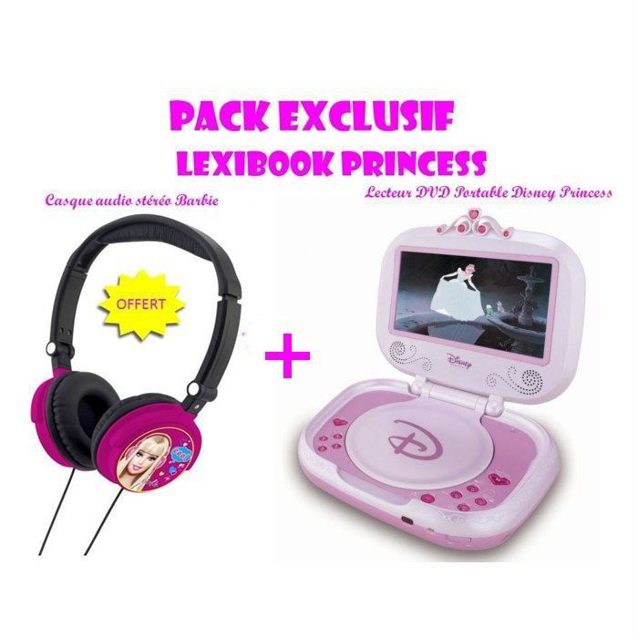 disney princess pack lecteur dvd casque offert achat vente lecteur dvd enfant cdiscount. Black Bedroom Furniture Sets. Home Design Ideas