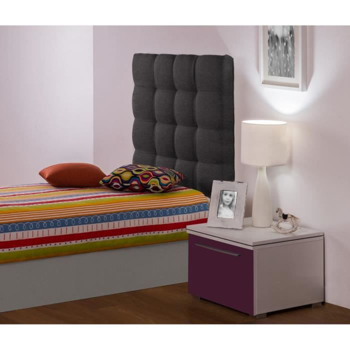 midgnight t te de lit enfant 90cm tissu gris fonc achat. Black Bedroom Furniture Sets. Home Design Ideas