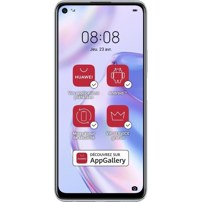 Photo de huawei-p40-lite-5g-space-silver-128-go-services-google