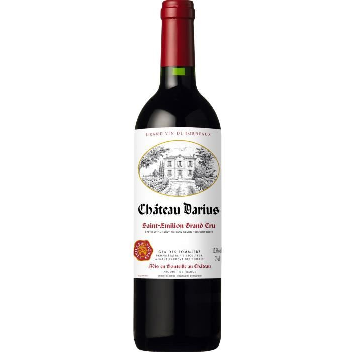 VIN ROUGE Château Darius 2015 Saint Emilion Grand Cru - Vin