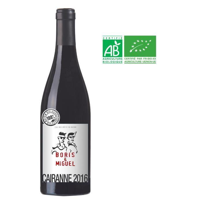 VIN ROUGE Boris et Miguel 2016 Cairanne - Vin rouge des Côte