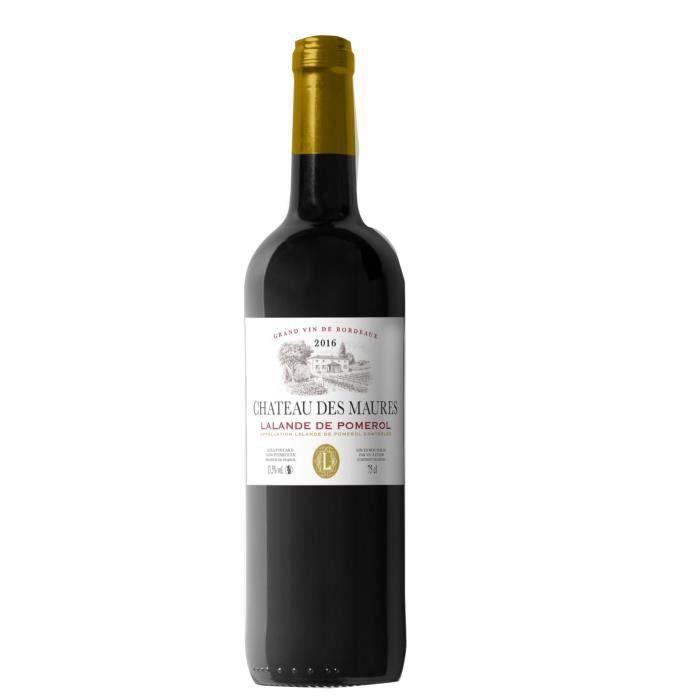 VIN ROUGE Château des Maures 2016 Lalande de Pomerol - Vin r