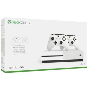 CONSOLE XBOX ONE Xbox One S 1 To + 2 manettes + PES 2020 Jeu Xbox O