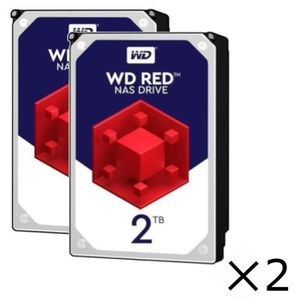 DISQUE DUR INTERNE Pack x2 : Disques durs Internes NAS WD Red™ - 2To