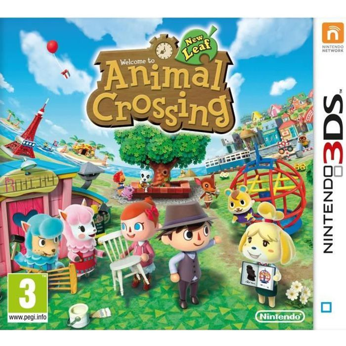animal crossing new leaf jeu 3ds achat vente jeu 3ds animal crossing new leaf 3ds cdiscount. Black Bedroom Furniture Sets. Home Design Ideas
