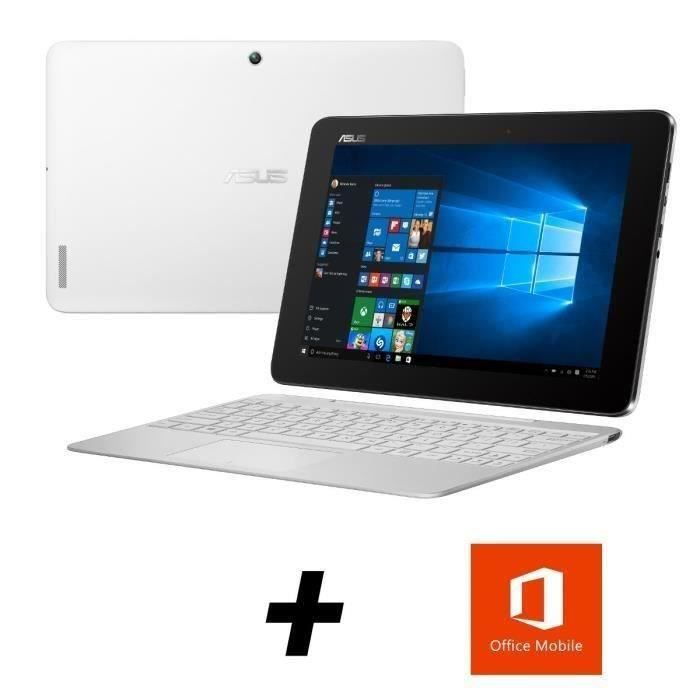 destockage asus transformer book pc 2 en 1 t100ha fu007t blanc 10 1 2go de ram windows 10. Black Bedroom Furniture Sets. Home Design Ideas