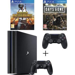 CONSOLE PS4 NOUVEAUTÉ Pack Playstation : PS4 Pro 1To Noire + Manette DS