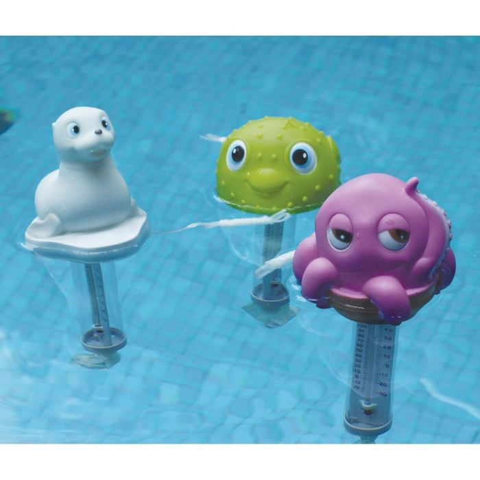 Thermom tre animal big eyes achat vente thermom tre for Thermometre piscine design