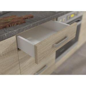 ELEMENTS BAS LASSEN Meuble bas de cuisine L 80 cm avec plan de