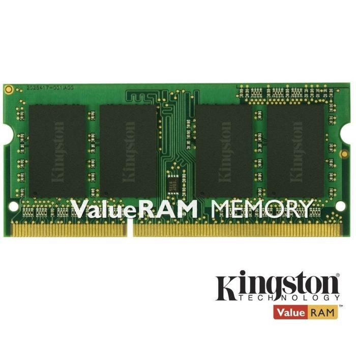 MÉMOIRE RAM Kingston 4Go DDR3 SODIMM 1333MHz CL9