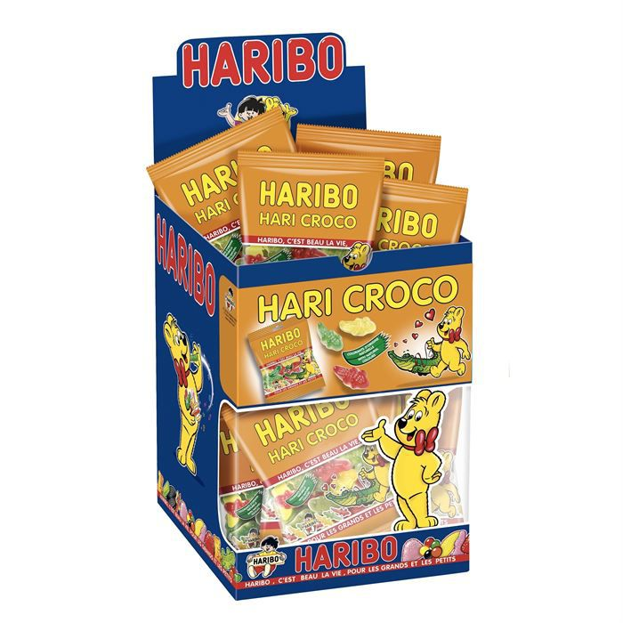 haribo hari croco 30 mini sachets x1 achat vente confiserie de sucre haribo hari croco. Black Bedroom Furniture Sets. Home Design Ideas