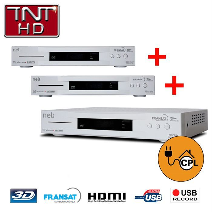 pack 3 tv terminaux satellite fransat hd r cepteur d codeur prix pas cher cdiscount. Black Bedroom Furniture Sets. Home Design Ideas