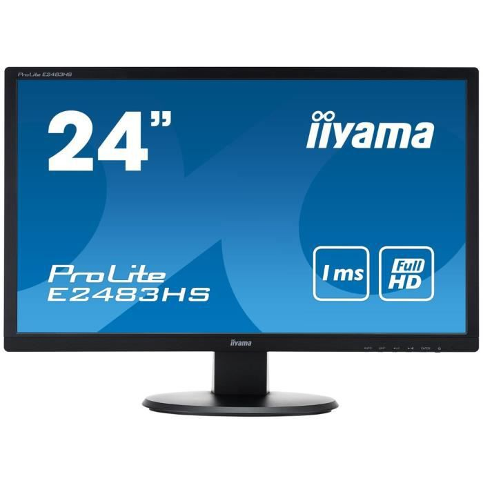 iiyama prolite e2483hs b1 ecran 24 achat vente ecran. Black Bedroom Furniture Sets. Home Design Ideas