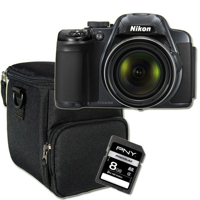 PACK APPAREIL BRIDGE NIKON P520 Bridge Silver + Etui + Carte SD 8 Go
