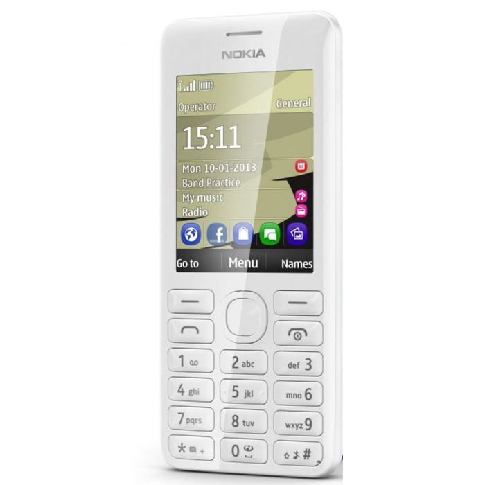 nokia 206 dual sim blanc t l phone portable prix pas cher cdiscount. Black Bedroom Furniture Sets. Home Design Ideas