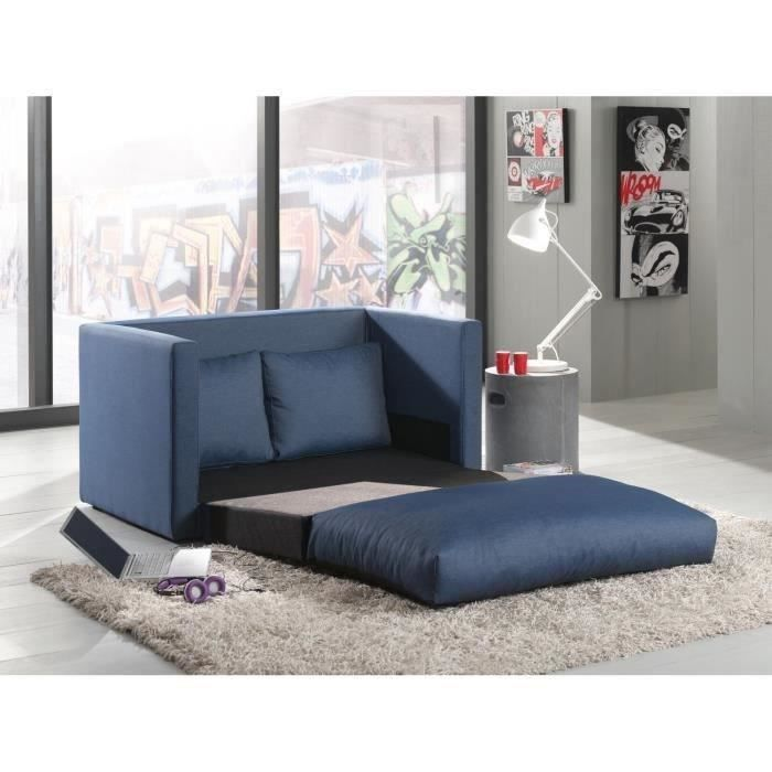 smouss canap d plimousse en tissu jeans bleu achat vente canap sofa divan tissu bois. Black Bedroom Furniture Sets. Home Design Ideas