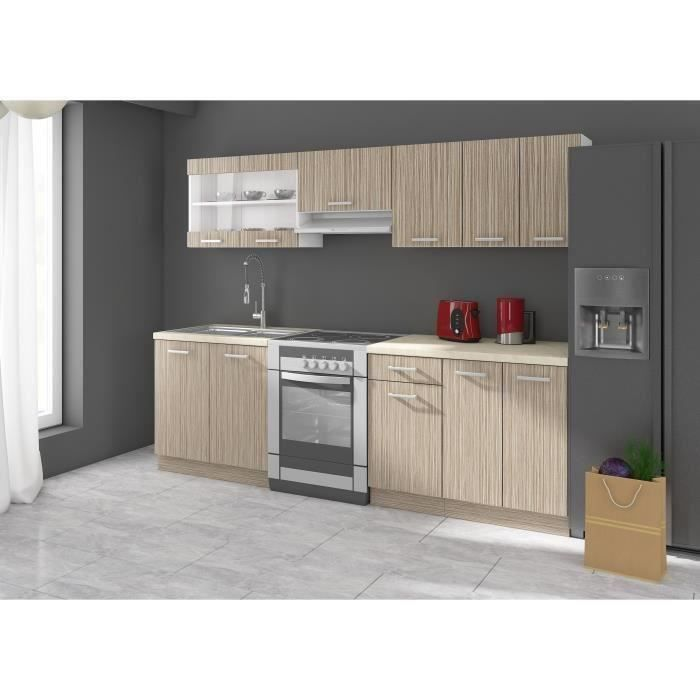 ultra cuisine quip e 2m40 avec cuisini re gaz continental. Black Bedroom Furniture Sets. Home Design Ideas