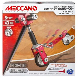 meccano coffret d butant meccano scooter trottinette spinmaster achat vente assemblage. Black Bedroom Furniture Sets. Home Design Ideas